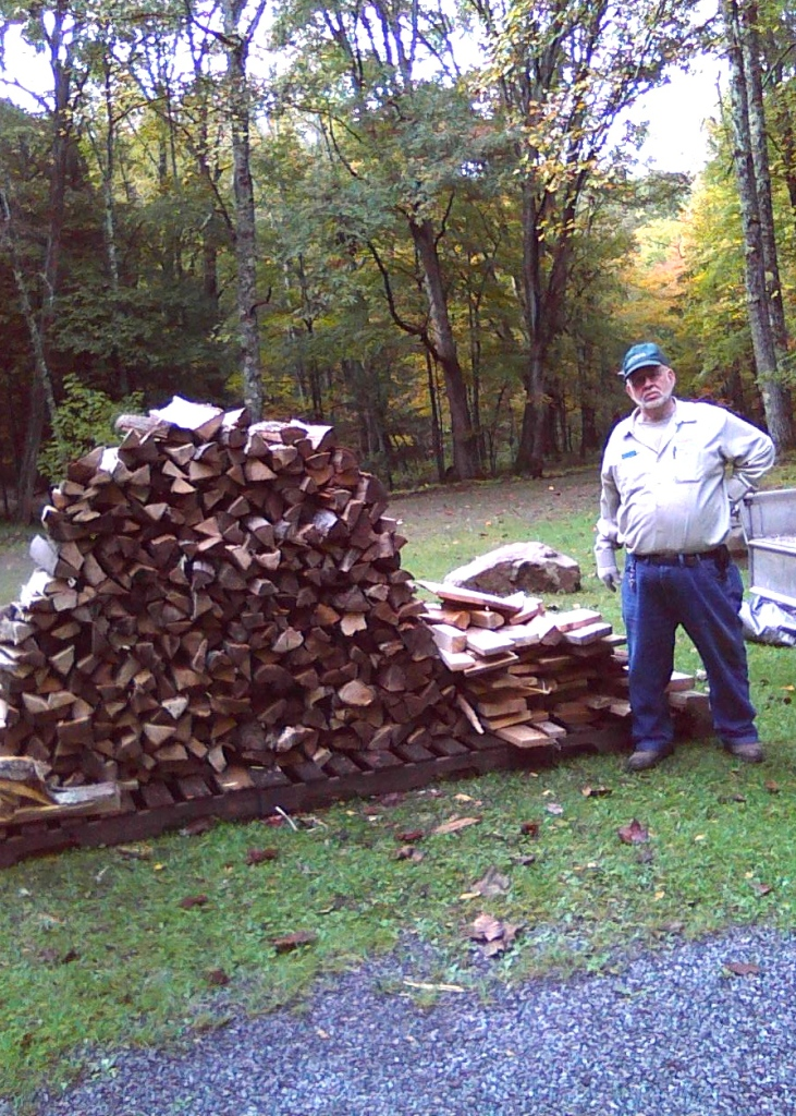 camp manager at stuart park campground with wood delivery for site akron bicycle club